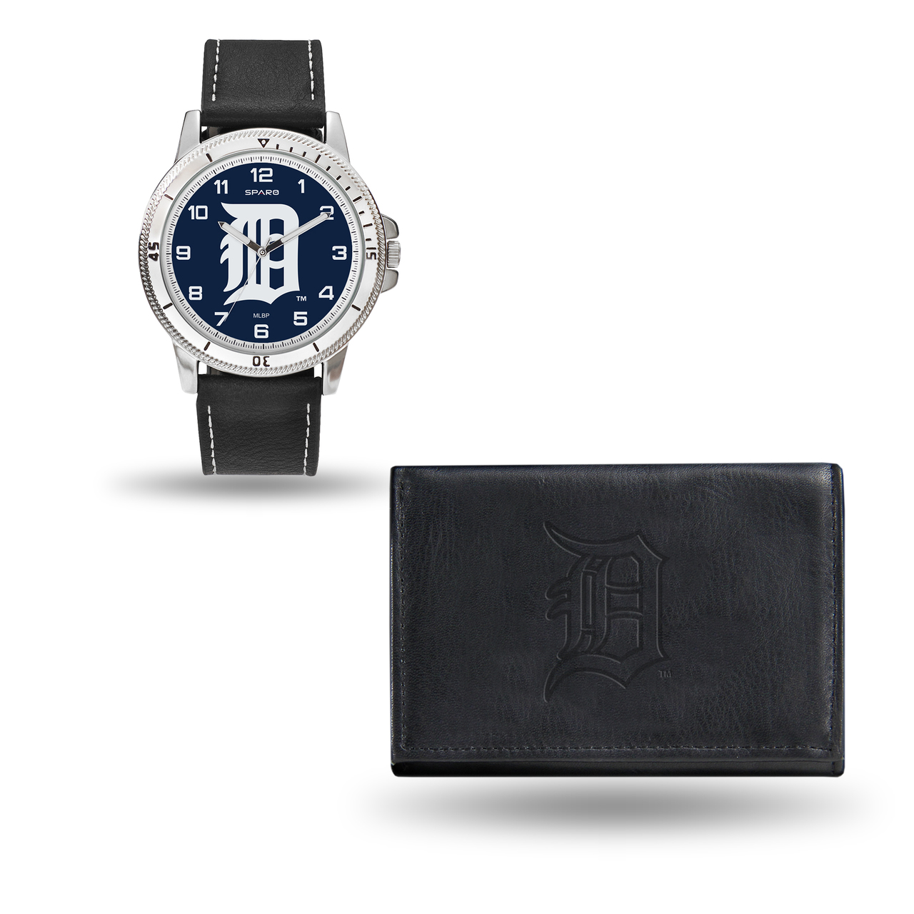 Detroit Tigers MENS Black Watch and Wallet - image 1 de 1