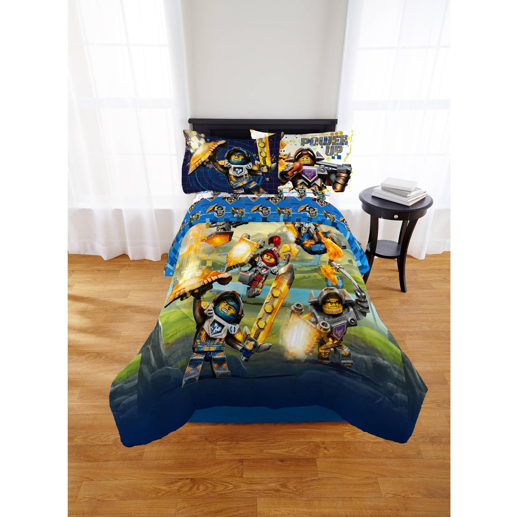 Lego Nexo Knight 'Powering Up' Reversible Twin/Full Comforter ...