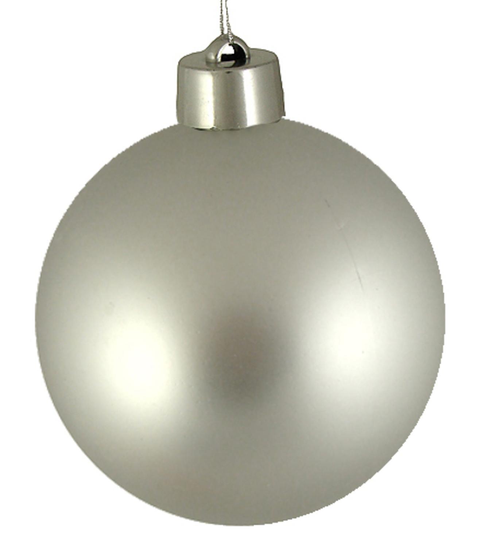 "Huge Matte Silver Splendor Shatterproof Christmas Ball Ornament 12"" (300mm)"
