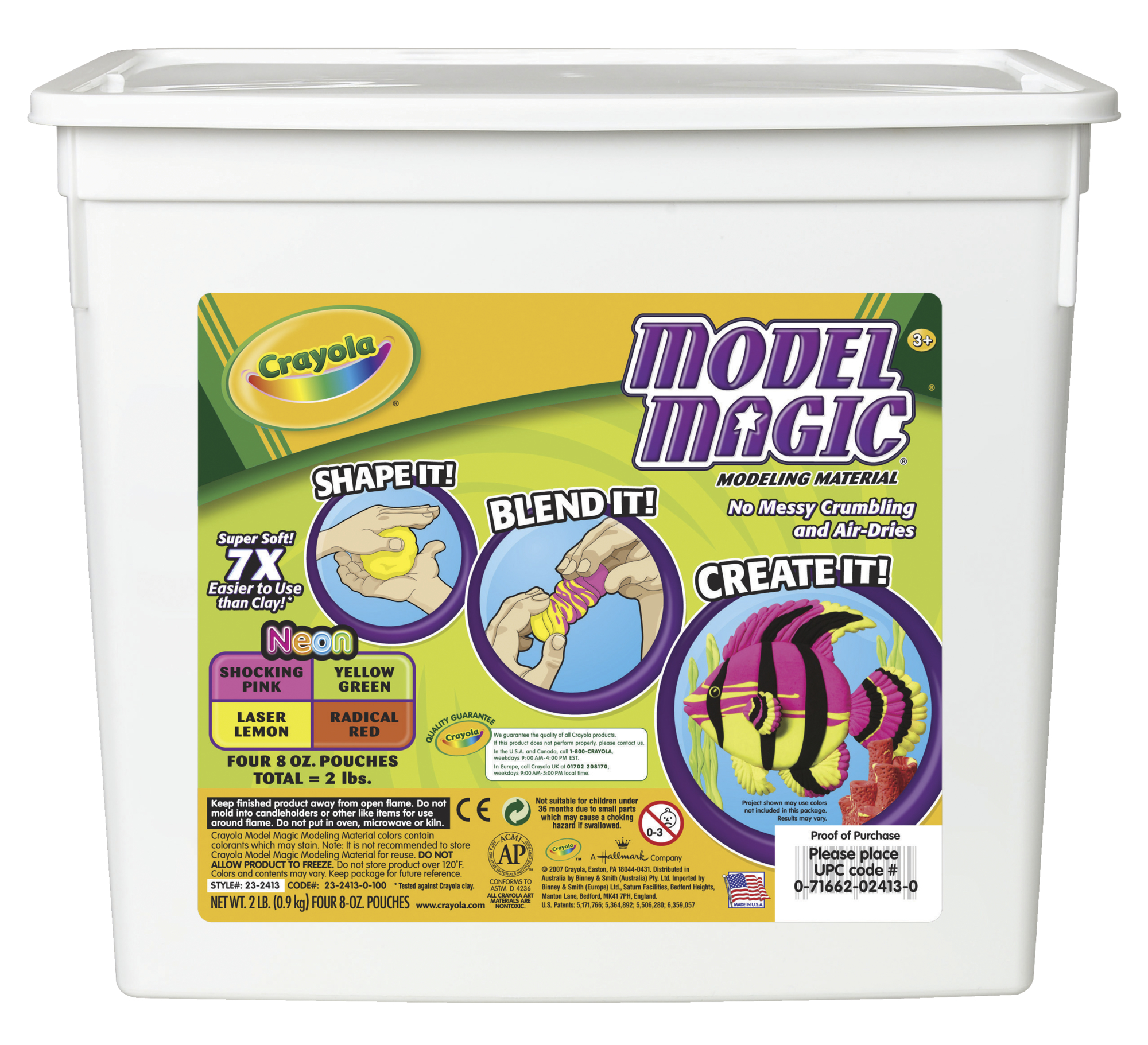 Crayola Neon Model Magic Dough in 8 ounce packs, 4 Colors