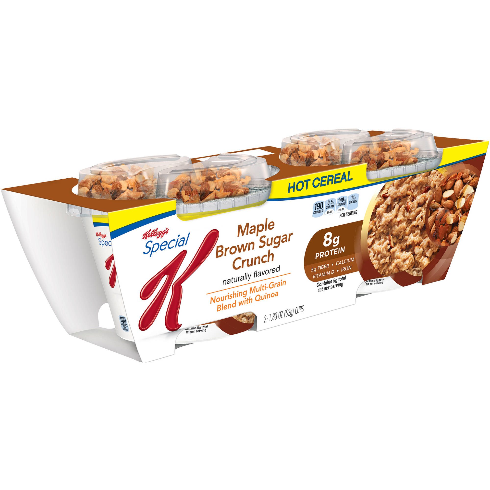 Kellogg's Special K Maple Brown Sugar Crunch Hot Cereal, 1.83 oz, 2 count
