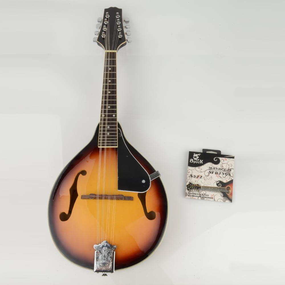 Ktaxon ISIN A-Style Elegant Maple Wood Mandolin with Extra Strings Set