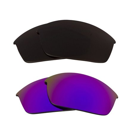 FLAK JACKET Replacement Lenses Bronze Brown & Purple by SEEK fits OAKLEY (Hcl Bronze Lens)