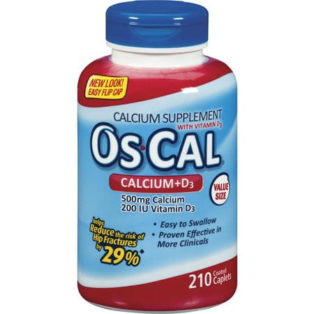 Os-Cal calcium Ultra et supplément de vitamine D3, Caplets ENDUITS, 210 Count