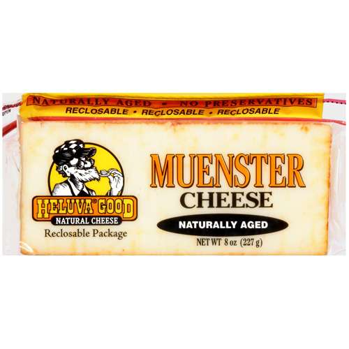 Heluva Good Natural Cheese Muenster Cheese, 8 oz