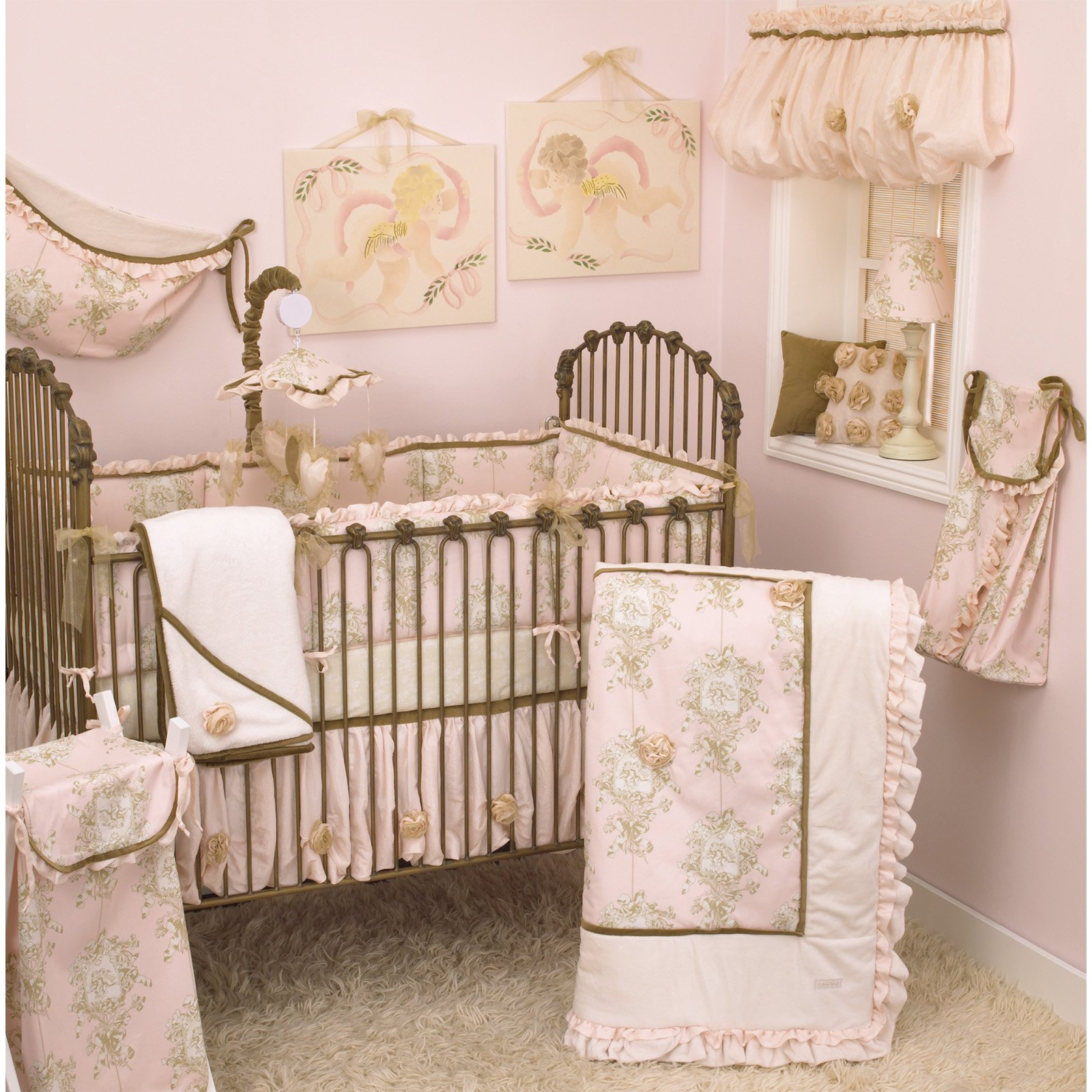 Cotton Tale Designs Lollipops And Roses 7 Piece Crib Bedding Set