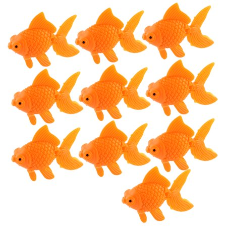 Aquarium Orange Plastic Goldfish Ornament Fish Tank Decoration