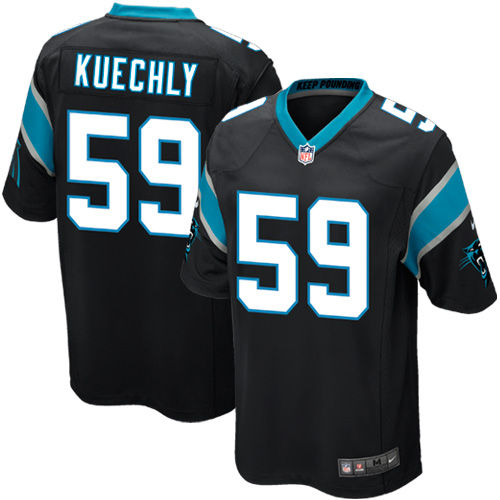 Youth Carolina Panthers Luke Kuechly Nike Black Team Color Game Jersey