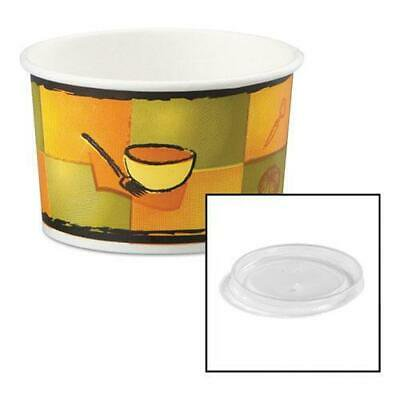 BG1254319 Streetside Paper Food Container w/Plastic Lid, Streetside Design, 8-10oz, 250/CT (Food Design)