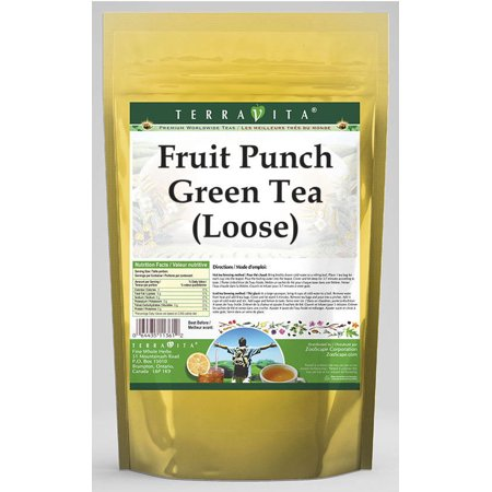 Fruit Punch Green Tea (Loose) (4 oz, ZIN: - Halloween Punch Alcoholic Green