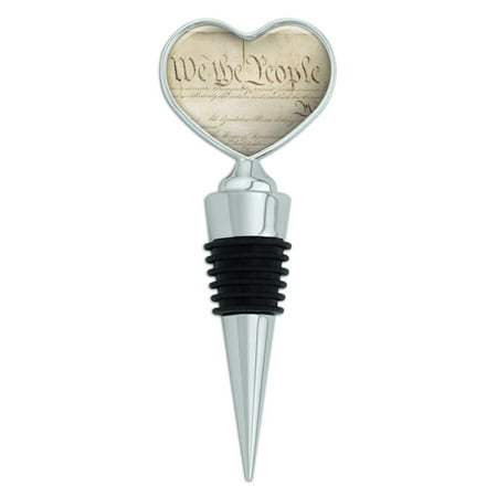 Constitution of the United States of America Heart Love Wine Bottle Stopper (United States Sparkling Wine)