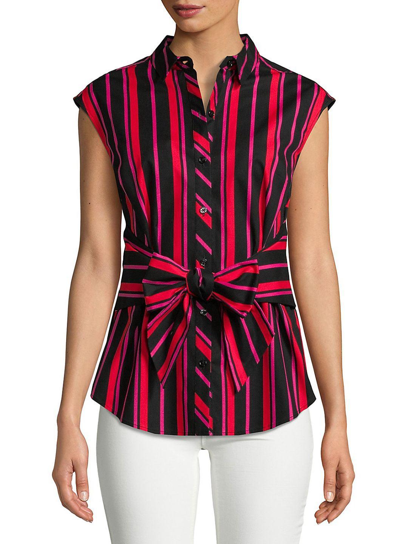Striped Tie Waist Top