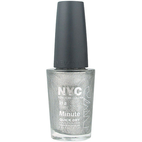 NYC New York Color In a New York Minute Quick Dry Nail Polish, Tribeca Silver