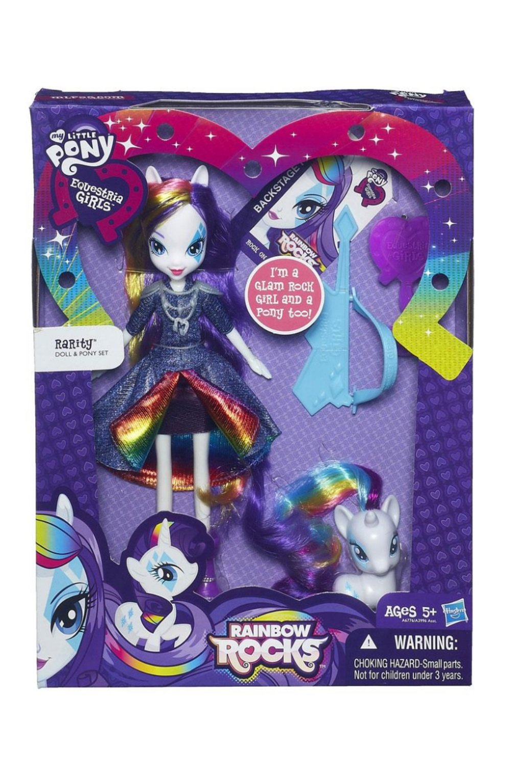 My Little Pony Equestria Girls Rarity Doll and Pony Set by
