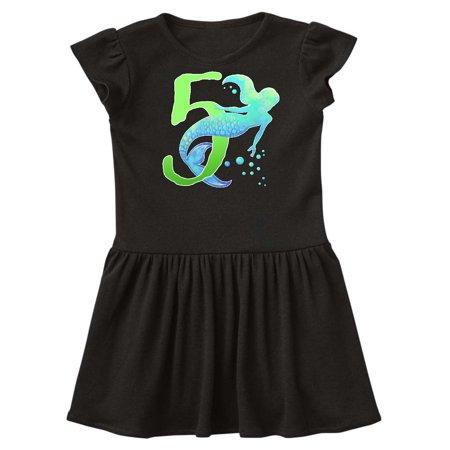 Fifth Birthday Mermaid Toddler Dress