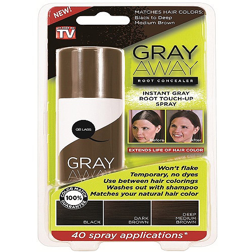 As Seen on TV Gray Away Dark Brown Root Concealer