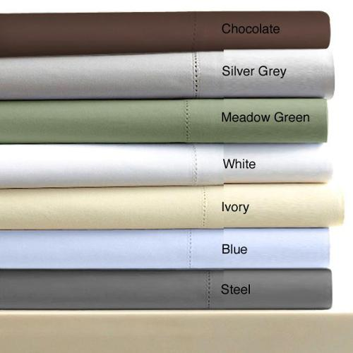 Marwah Corporation Egyptian Cotton Sateen 600 Thread Count Solid Pillowcases (Set of 2)