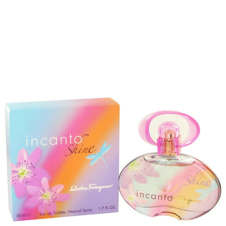 Salvatore Ferragamo Incanto Shine Eau De Toilette Spray for Women 1.7 (Spray Incanto Charms)