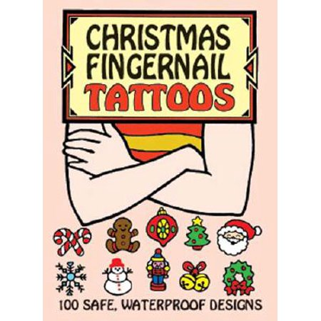 Christmas Fingernail Tattoos - Witch Fingernails