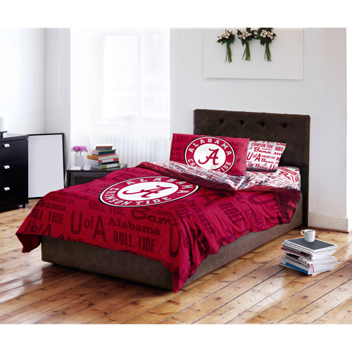 NCAA Anthem Bedding Comforter Set with Sheets, University of Alabama