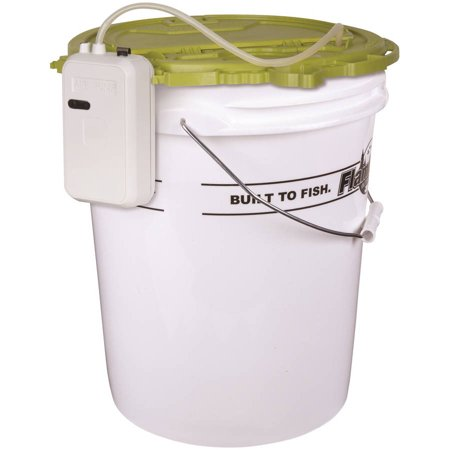 Flambeau 5 gal insulated bucket with lid and 12v 110v for Walmart with live fish near me