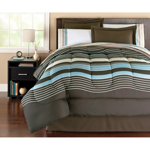Mainstays Coordinated Bedding Set, Urban Stripe