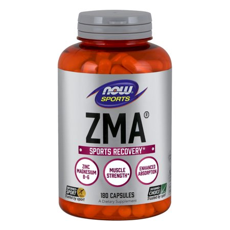 NOW Sports Nutrition, ZMA (Zinc, Magnesium and Vitamin B-6), 180 (Best Magnesium For Depression)