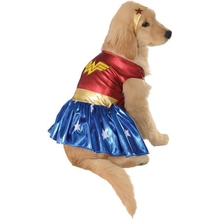 Wonder Woman Deluxe Dog Costume - Large](Dog Costume Human)