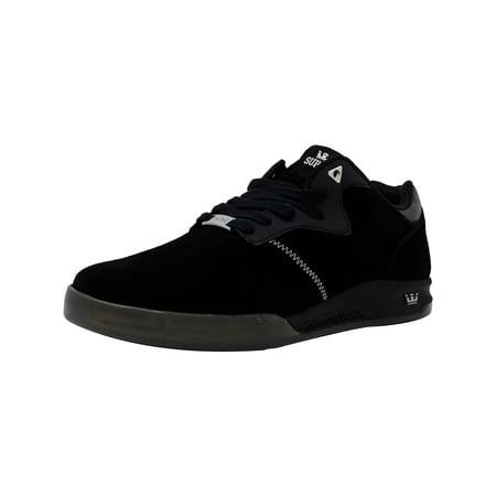 Yellow Skateboard Shoe (Supra Men's Quattro Black / Grey Transluscent Ankle-High Leather Skateboarding Shoe - 9M)