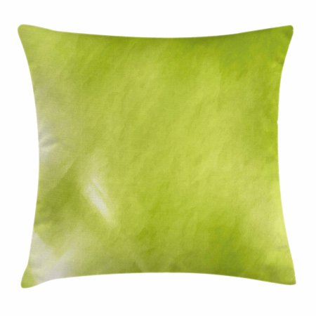 Sage Throw Pillow Cushion Cover Digital Shady Color Abstraction Enchanting Apple Green Decorative Pillows