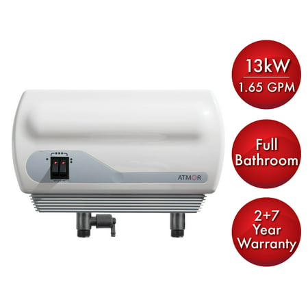 Atmor 13kW/240-Volt 2.25 GPM Electric Tankless Water Heater with Pressure Relief Device, On demand Water Heater (Tankless Water Heater Electric)