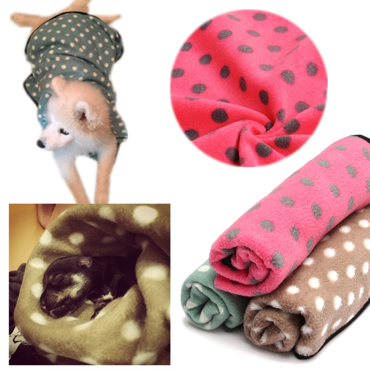 30*20.5inch Soft Warm Fluffy Fleece Pet Blanket for Dog Cat Puppy Pet Sleep Bed Mat Pad Cover Cushion with Wave Point