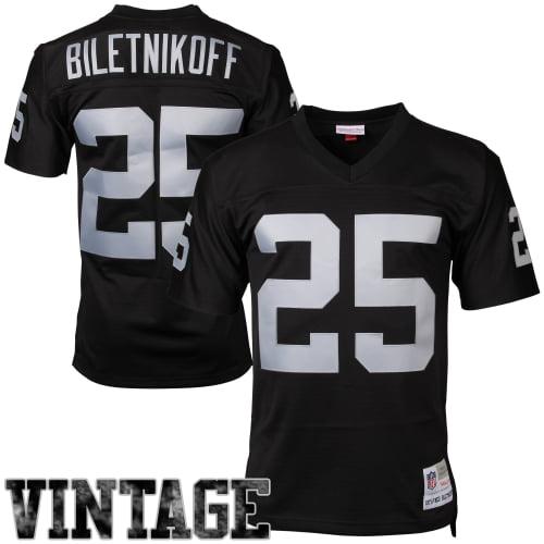 Fred Biletnikoff Oakland Raiders Mitchell & Ness Retired Player Vintage Replica Jersey - Black