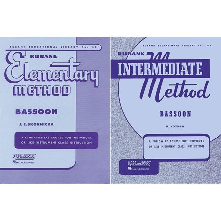 - Rubank Elementary Method and Rubank Intermediate Method - Bassoon, 2 Book Set, RBK BASSOON 2BK SET