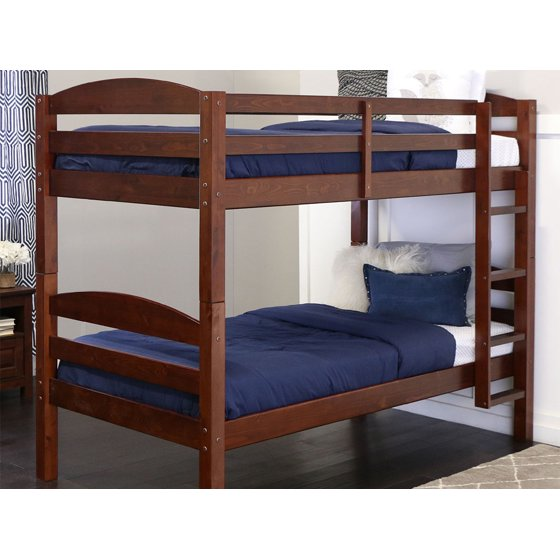 Twin Over Wood Bunk Bed Espresso Multiple Colors Available