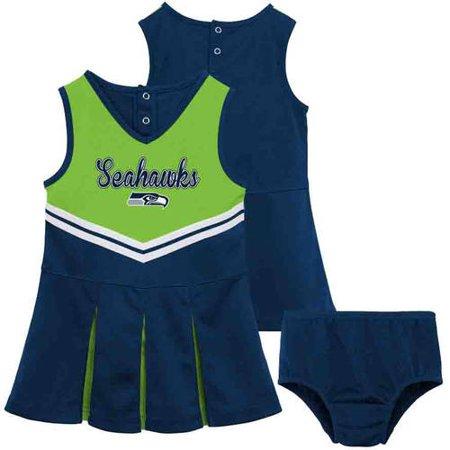 NFL - NFL Seattle Seahawks Toddler Cheerleader Set - Walmart.com 9466f68be