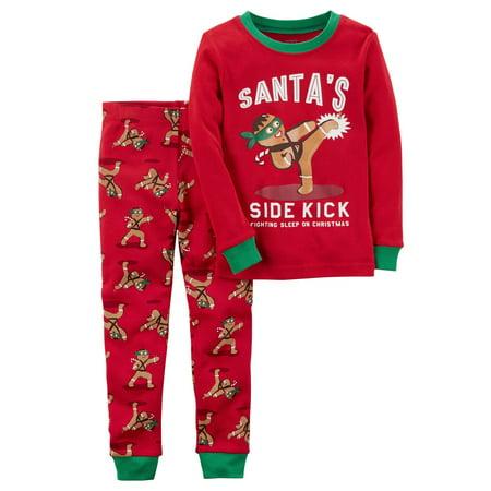 Carter's Baby Boys' 2-Piece Gingerbread Snug Fit Cotton PJs, 18 Months ()