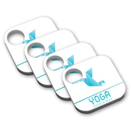 Skin Decal Wrap for Tile Key Phone Finder (4 pack) sticker Yoga Origami