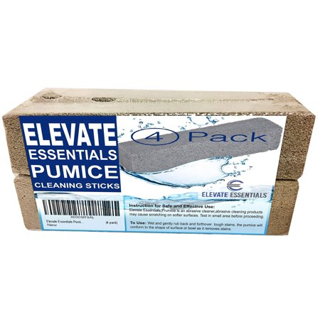 Elevate Essentials Pumice Stone Toilet Bowl Cleaner - 4 Pack of Pumice Stones - Pool Pumice Stone Tile Cleaner - Removes Rust Lime Calcium - Natural (Best Tool For Removing Rust)