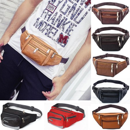 Waterproof Waist Fanny Pack Belt Bag Pouch Travel Sport Hip Purse Men Women