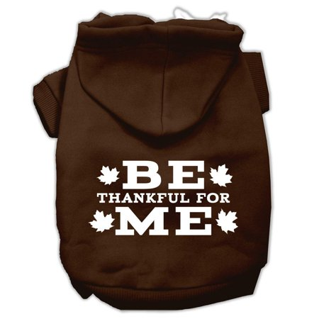 mirage 62 91 xxlbr be thankful for me screen print pet hoodie brown si
