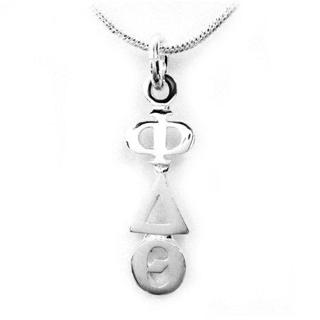 Sterling Silver Lavalier (Phi Delta Theta Fraternity Lavalier - Sterling Silver - With Chain)