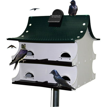 (S&K Great 8 Purple Martin House, Green/White/Black)