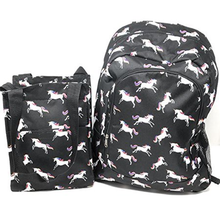 374cb046c238 Nickanny s - Kids Full Size Backpack with Side Mesh Pockets and Insulated  Lunch Bag Box Carrier (Unicorn) … - Walmart.com