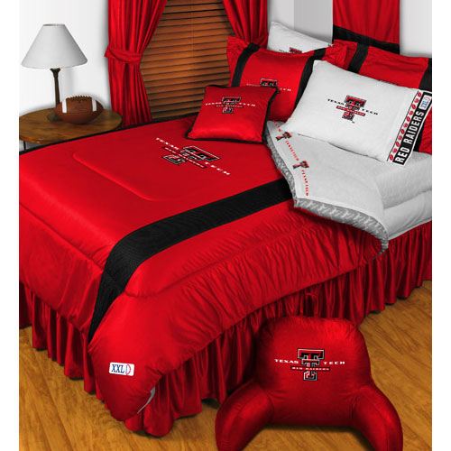 NCAA Texas Tech Red Raiders Bedding Set College Football Bed