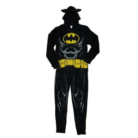 DC Comics Batman Mens Hooded Costume Caped Union Suit Pajama Blanket Sleeper