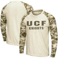 UCF Knights Colosseum OHT Military Appreciation Desert Camo Raglan Long Sleeve T-Shirt - Oatmeal