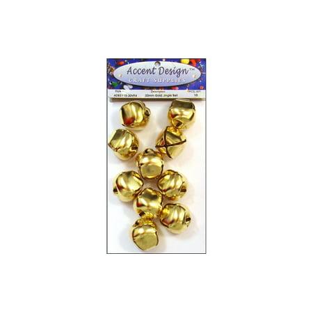 PA Ess Jingle Bell Value Pack 30mm 10pc Gold (6 packs) - Jingle Bells Instrument