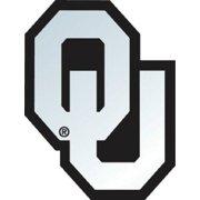 Oklahoma Sooners Silver Auto Emblem Car Decal
