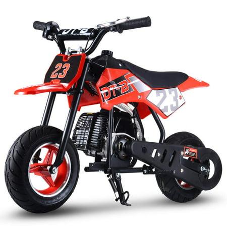 51CC 2-Stroke Kids Dirt Off Road Mini Dirt Bike, Red Husqvarna Dirt Bike